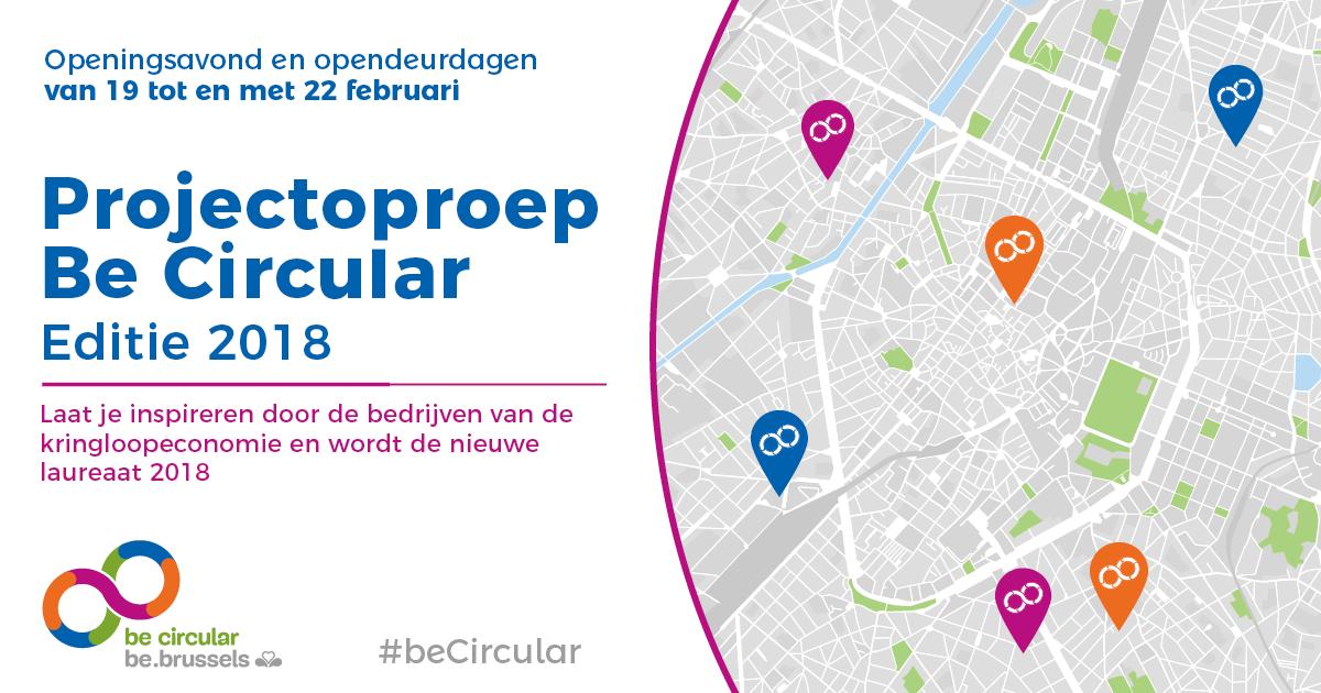 SAVE-THE-DATE : Kom naar de lancering van de editie 2018 van be circular !