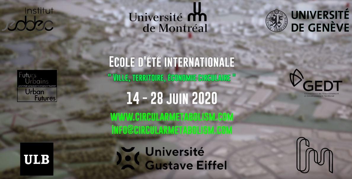 Internationale summer school 'Stad, gebied en circulaire economie' editie 2020